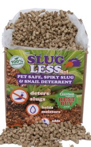 SlugLess® is made from 100% Organic British Straw which has had no fertiliser or chemicals applied.
